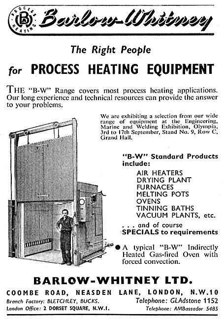 Barlow-Whitney Process Heating Equipment