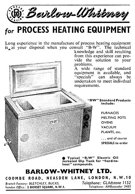 Barlow-Whitney Process Heating Equipment - Industrial Ovens