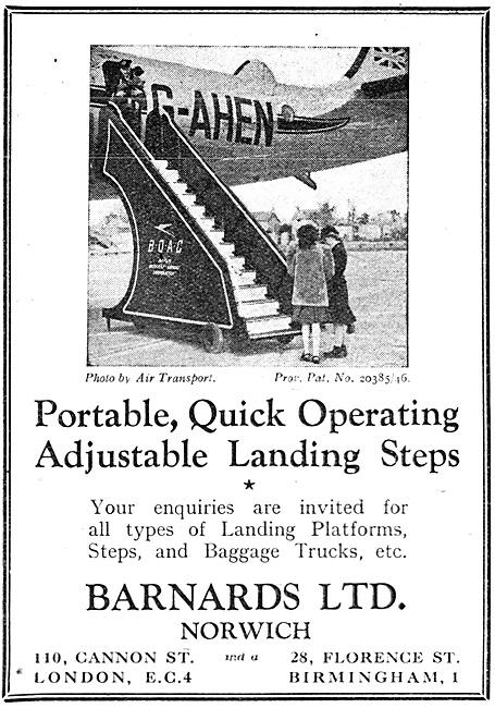 Barnards Ground Handling Equipment. Passenger Steps. G-AHEN