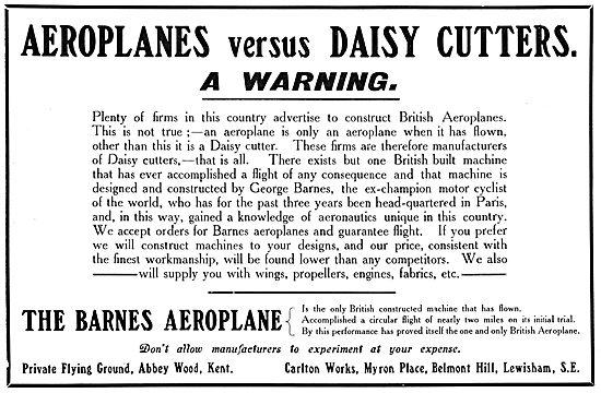 The Barnes Aeroplane Company