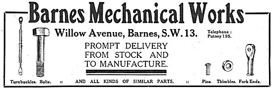 Barnes Mechanical Works. Willow Avenue, Barnes. SW13 - AGS Parts
