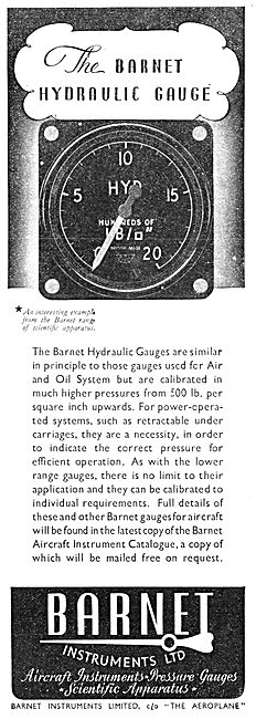 Barnet Hydraulic Pressure Gauge 1941