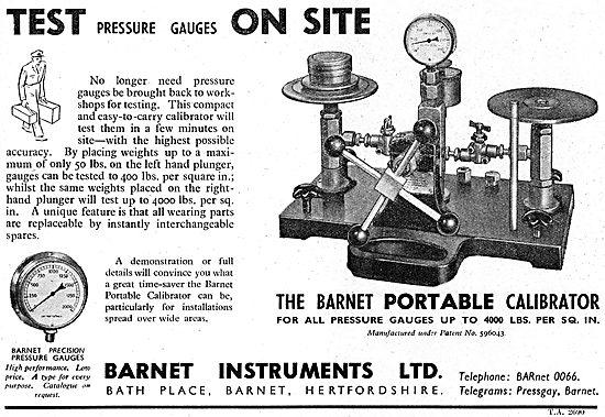 Barnet Instruments - Barnet Pressure Gauges & Test Equipment