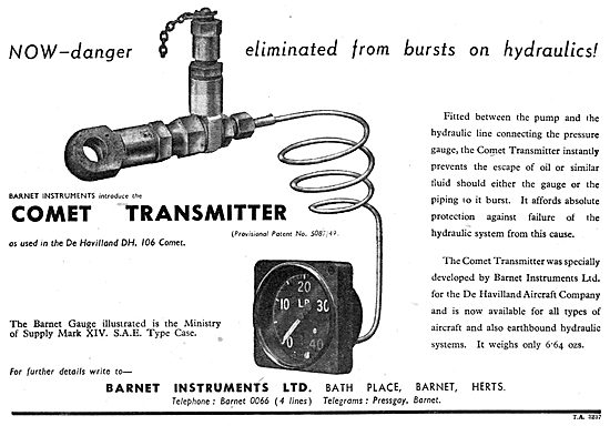 Barnet Instruments - Hydraulic Pressure Transmitter