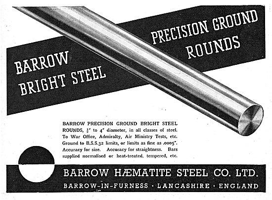 Barrow Haematite Steel Co. Precision Ground Bright Steel Rounds