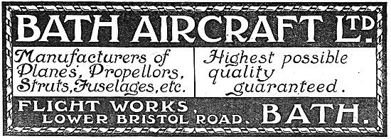 Bath Aircraft Ltd - Manufacturers Of Planes, Propellers Etc