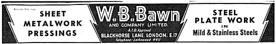 W B Bawn Sheet Metalwork & Pressings For Aircraft