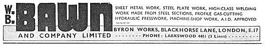 W B Bawn Hydraulic Presswork For Aircraft