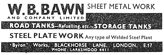W B Bawn: Sheet Metal Work