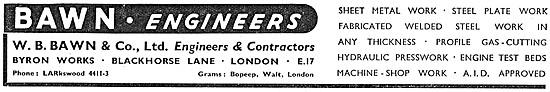 W B Bawn: Sheet Metal Work & Welding & Fabricated Assemblies