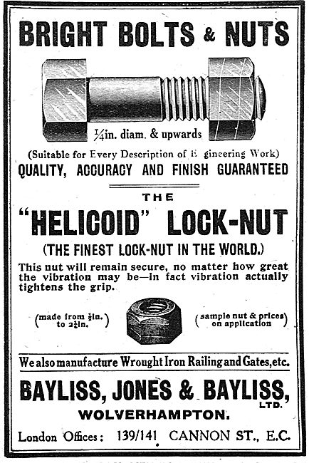 Bayliss Jones - Aircraft Quality Nuts & Bolts. Helicoid Lock Nuts