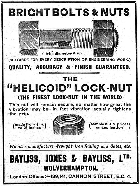Bayliss Jones  & Bayliss - AGS. Helicoid Lock-Nuts