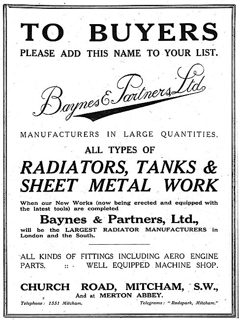Baynes & Partners - Sheet Metal Works