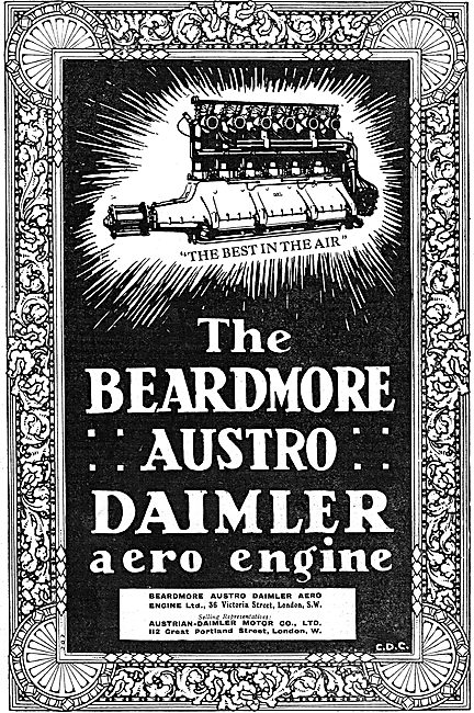 Beardmore Austro Daimler Aero Engines - The Best In The Air
