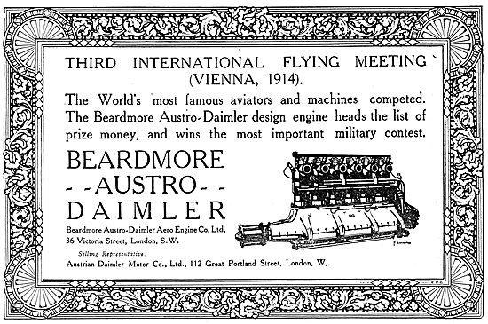 Beardmore Aero Engines At The 1914 Vienna Flying Meeting