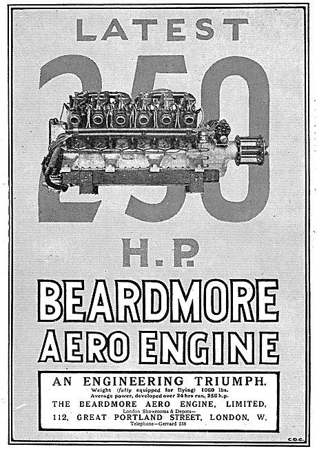 Beardmore 250 HP Aero Engines