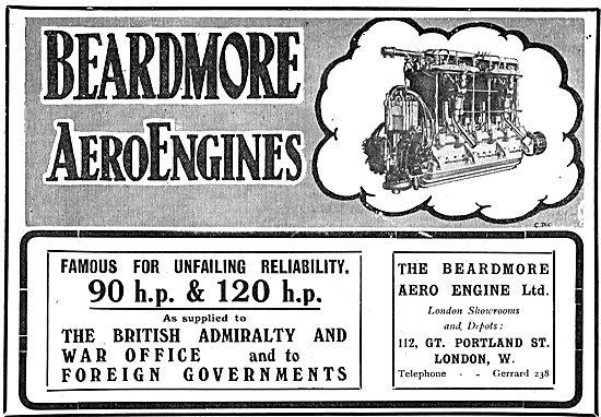 Beardmore 90 & 120 HP Aero Engines