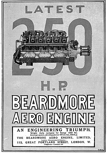 The Beardmore 250 HP Aero Engine