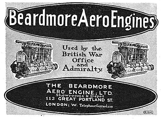 Beardmore Aero Engines. Used By The British War Office