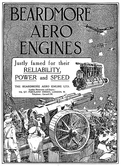 Beardmore Aero Engines. Justly Famed For Reliability & Speed