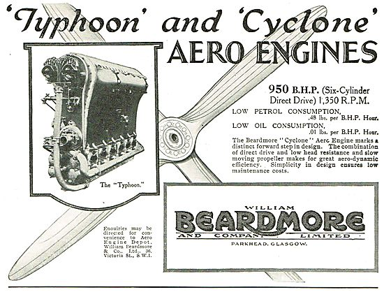 Beardmore Typhoon - Beardmore Cyclone Aero Engines