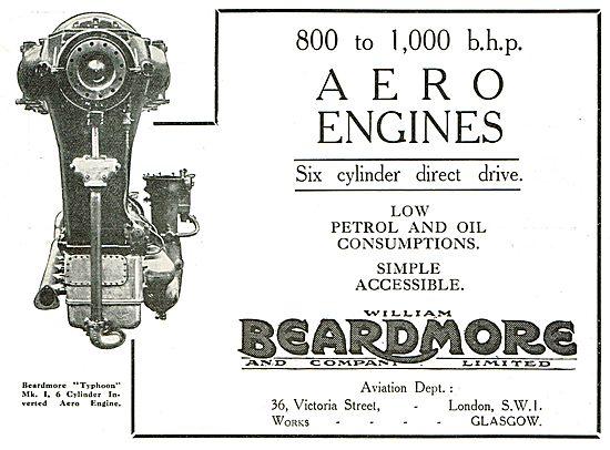 Beardmore 800 To 1,000 b.h.p. Aero Engines