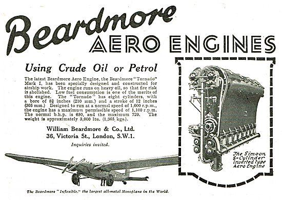 Beardmore Tornado  Engine - For Airship Work. Crude Oil Or Petrol