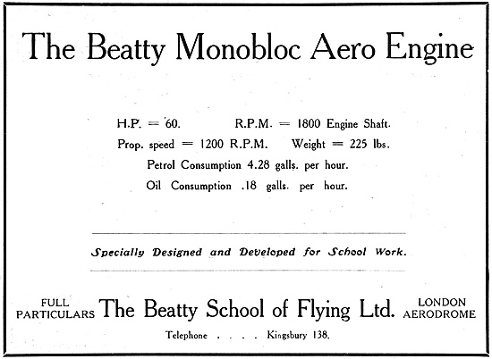 The Beatty Monobloc Aero Engine 1916