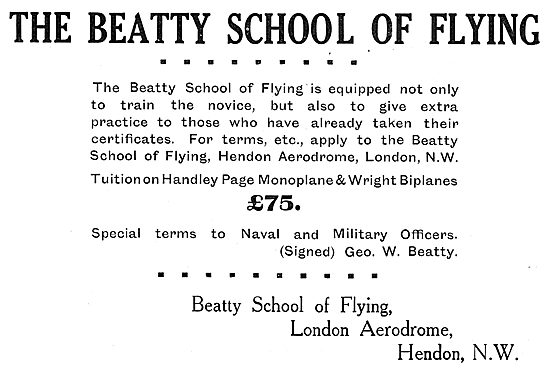 The Beatty School Of Flying - Learn On Wright Biplanes £75.