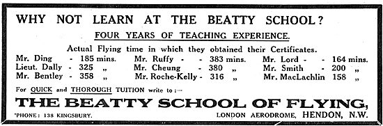 Four Years Of Teaching Experience At The Beatty School Of Flying