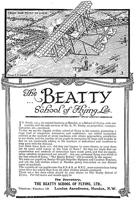 The Beatty School Of Flying Hendon