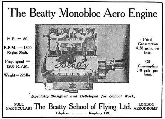 The Beatty Monobloc 60 HP Aero Engine