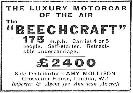 Beechcraft The Luxury Motorcar Of The Air. Amy Mollison.