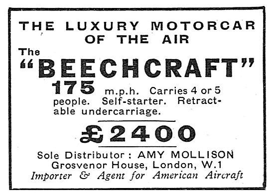 Beechcraft Aircraft - Amy Mollison Sole Distributor