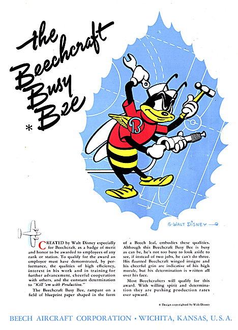 Beechcraft - Beechcraft Busy Bee Disney Motif 1942