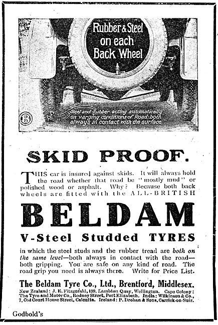 The Beldam Tyre Co Ltd - Skid Proof  Motor Vehicle Tyres