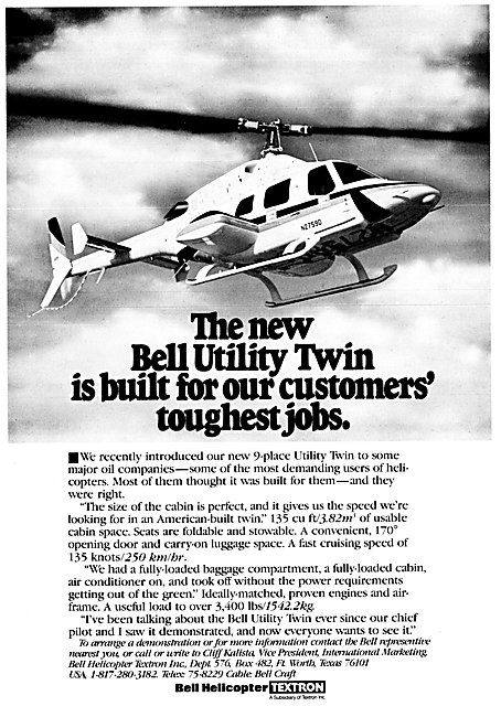 Bell Utility Twin Helicopter 1983