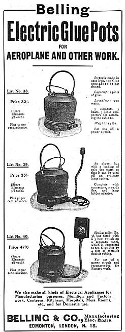 Belling Electric Glue Pots 1918