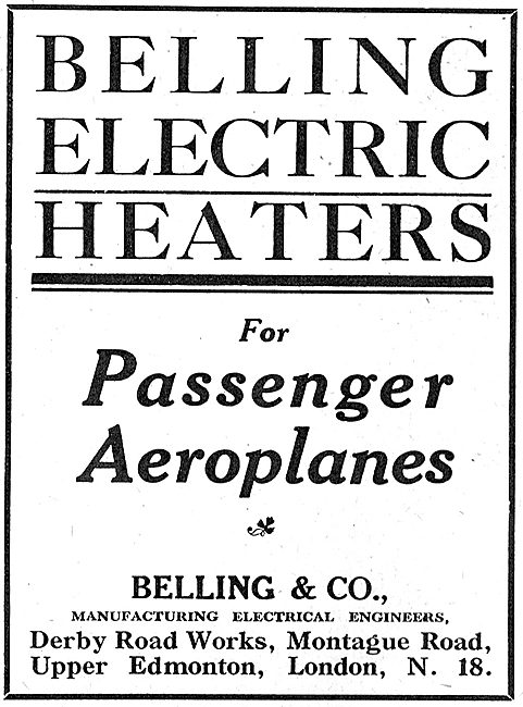 Belling Electric Heaters For Passenger Aeroplanes