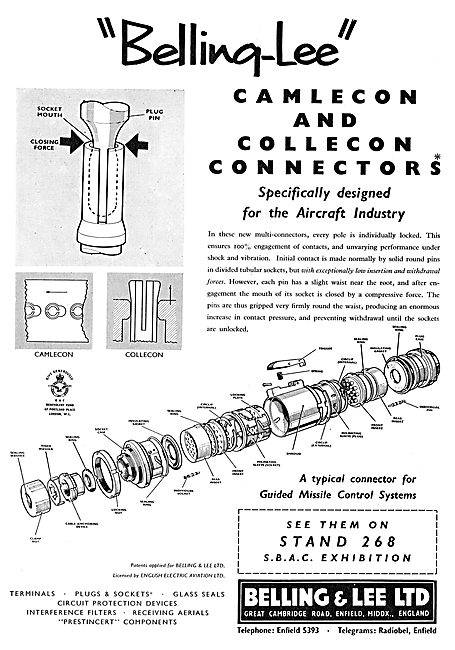 Belling & Lee Aircraft Electrical Connectors. Camlecon - Collecon