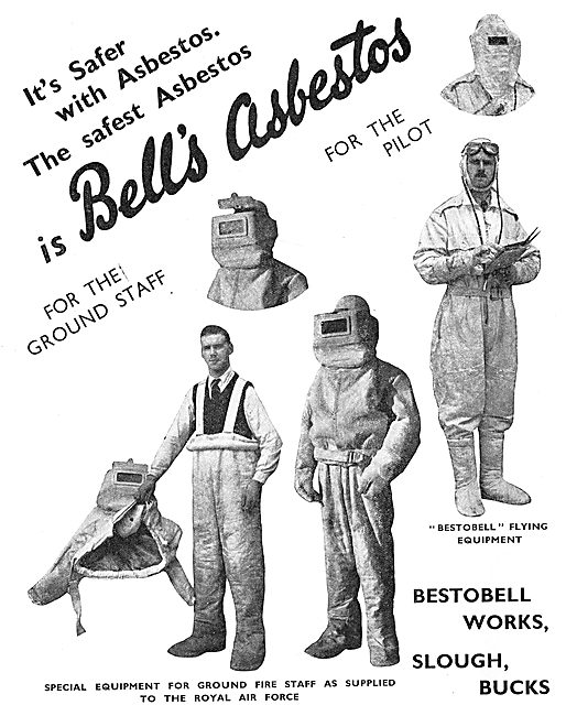 Bell's Asbestos  Fire & Rescue Suits. Asbestos Flying Suits