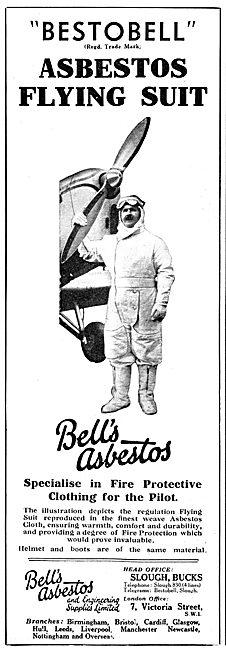Bell's Asbestos. BESTOBELL Asbestos Flying Suit