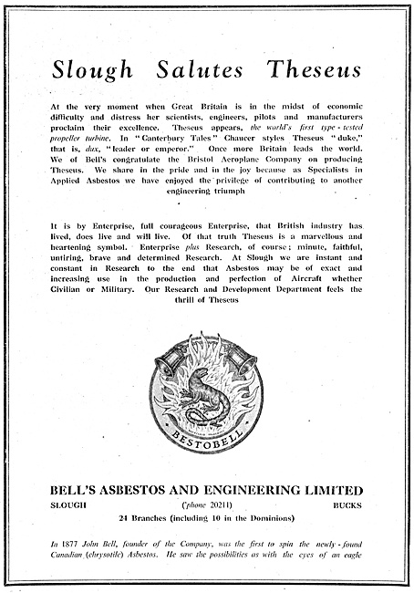 Bells Asbestos Products 1947