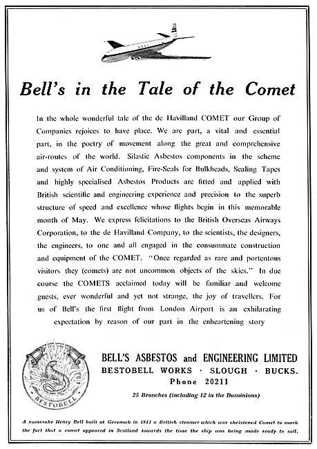 Bell's Asbestos Components - Bestobell Works Slough