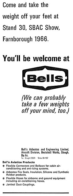 Bell's Asbestos Aircraft Products. Ducting, Seals & Insulation