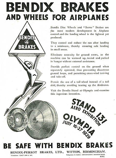 Bendix Disc Wheels & Servo Brakes For Aircraft