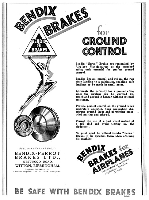 Bendix Aircraft Brakes 1929
