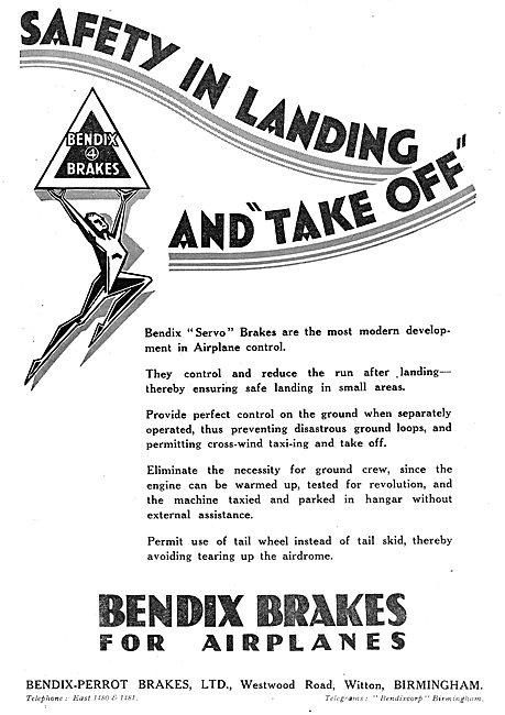 Bendix Servo Brakes For Aircraft