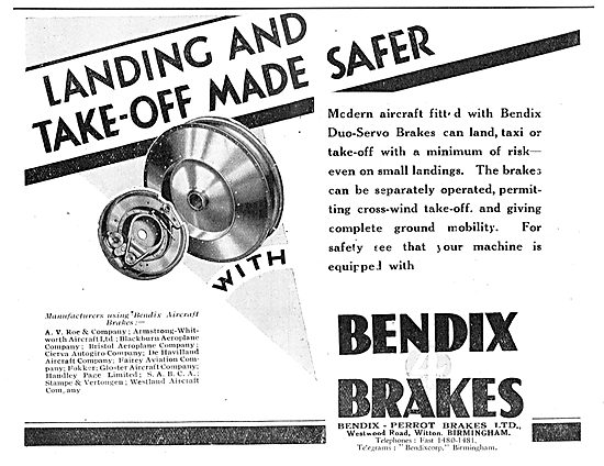 Take Offs & Landings Are Safer With Bendix Aircraft Brakes
