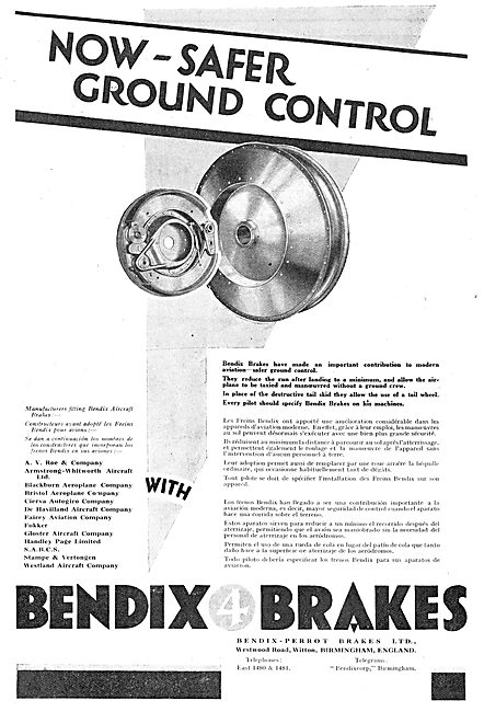 Safer Ground Control With Bendix Aircraft Brakes